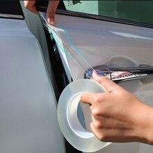 Protector de Borde de puerta para coche, tira adhesiva, película de PVC transparente, anticolisión, Protector de bordes, sello de goma
