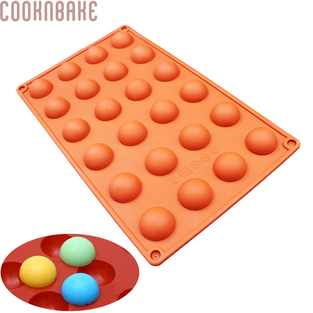 COOKNBAKE DIY Semikircle silikonová forma pro čokoládu, kostka ledu, želé 24 průměr dutiny: 2,4 cm SICM-020-3