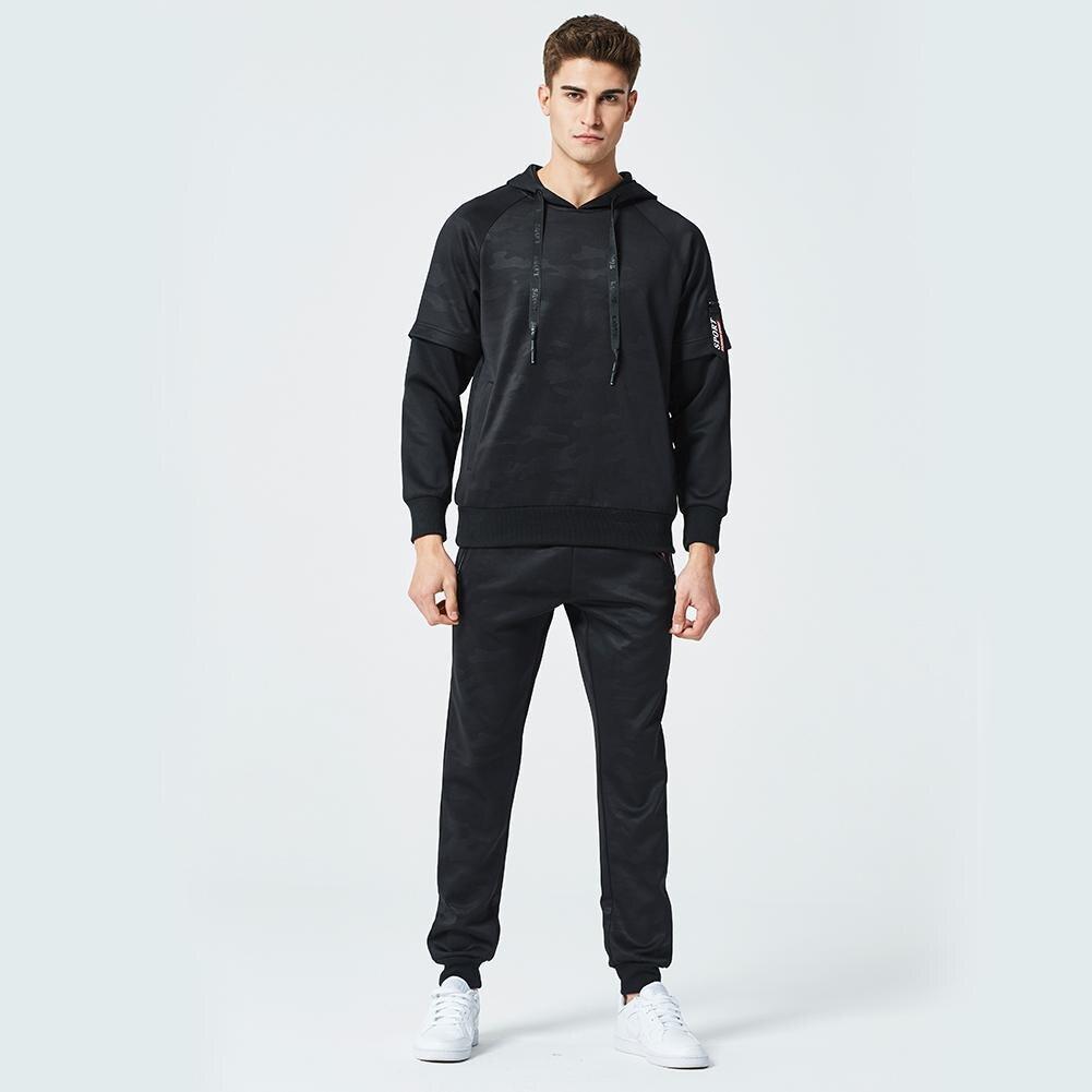 Sanwood Men Sports Pullover Long Tracksuit Hoodie Soft Sweatsuit Clothes Men's Sets