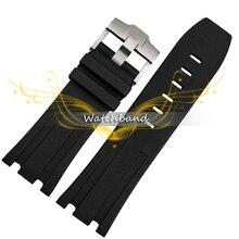 Натуральный каучук wacthband, 28 мм ретро черный силиконовый ремешок для королевской дерево ремень, Для ар резиновые Wacthband