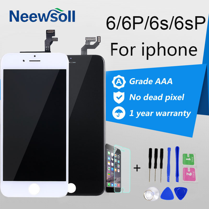 Neewsoll No Dead Pixel AAA + Screen Replacment For iPhone 6 Display iPhone 6S LCD iPhone6Plus Touch Screen 3D Digitizer