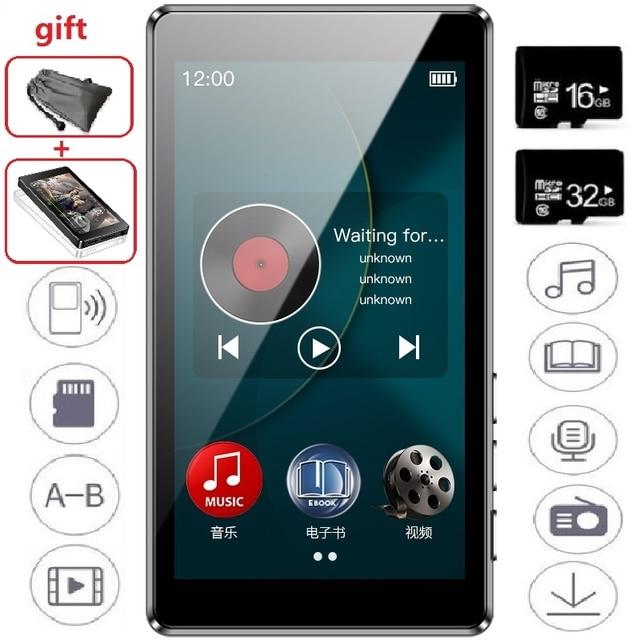 Le plus récent RUIZU D20 lecteur MP3 3.0 pouces HD écran tactile complet FM E Book HiFi Audio lecteur de musique prend en charge la carte TF