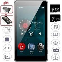 RUIZU reproductor MP3 D20, pantalla completamente táctil HD de 3,0 pulgadas, Radio FM, E Book, HiFi, reproductor de Audio, compatible con tarjeta TF
