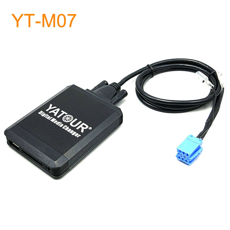 Yatour Car MP3 USB SD CD Changer for iPod AUX with Optional Bluetooth for Renault Avantime Kangoo Modus Velsatis Megane Scenic yatour car mp3 usb sd cd changer for ipod aux with optional bluetooth for toyota carina celica coaster highlander land cruiser