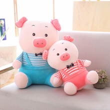 Cartoon Lovely Wearing Clothe Pig Plush Toy Stuffed Animal Soft Doll Children Birthday Christmas Gift