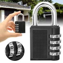 все цены на Weatherproof Security Padlock 4-Digit Metal Code Combination Lock Outdoor Portable Heavy Duty Password Durable Lock онлайн