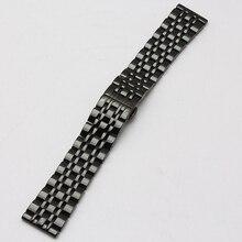 22 mm venta al por mayor negro Metal bandas venda de acero inoxidable de la correa pulseras