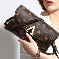 2018 Latest Fashion Ladies Flower PU Crossbody Shoulder Bag Classic All Match Party Office Shopping Mini