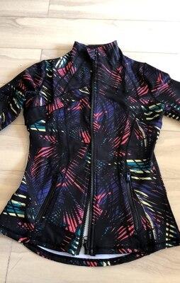 Latest autumn and winter Printed Motion jacket Yoga Sport Women Anti-sweat Nylon Running Jogger Coat Elastic