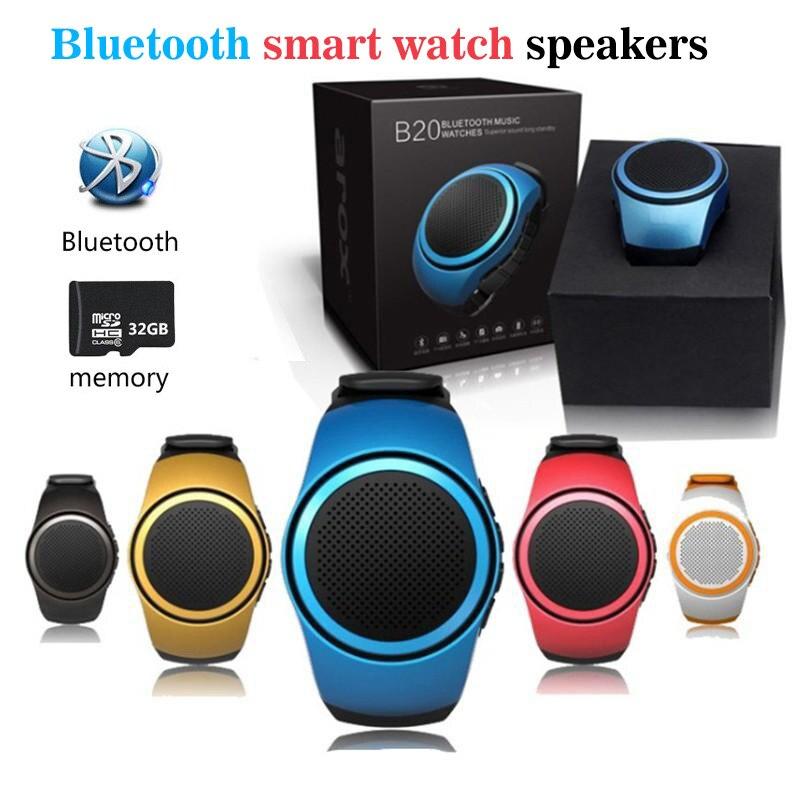 Новые B20 Bluetooth <font><b>Smart</b></font> часы MP3 Динамик часы Портативный мини мобильный телефон DZ09 Q18 V8 A1 SmartWatch Спорт Звук TF FM аудио