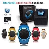 Lo nuevo B20 Reloj Reloj Inteligente Bluetooth MP3 Altavoz Portátil Mini Móvil teléfono A1 Smartwatch DZ09 Q18 V8 Sport Sonido TF FM de Audio