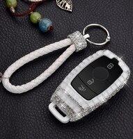 Gift Luxury Diamond Bling Key Case Holder Ring For For Mercedes Benz E Class W213 E200 E260 E300 E320 Car Styling Accessories