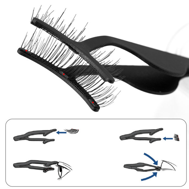 1Pc Magnetic <font><b>Eyelashes</b></font> Tweezer False <font><b>Eyelashes</b></font> <font><b>Applicator</b></font> for Magnet <font><b>Eyelashes</b></font>-TZ003 image