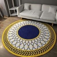 Modern Fashion Geometric Carpet Sitting Room Bedroom Mat Study Computer Chair Round Rug