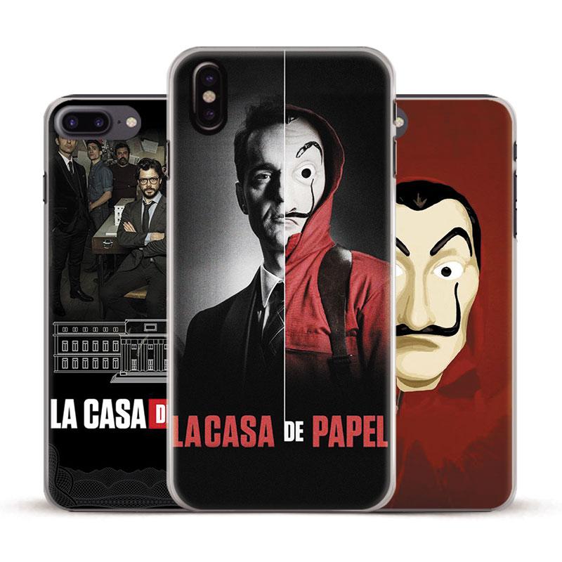 La Casa De Papel Money Heist Phone Case Cover Shell For Apple iPhone 5s Se 6 6Plus 6s 6sPlus 7 7Plus 8 8Plus X XR XS MAX