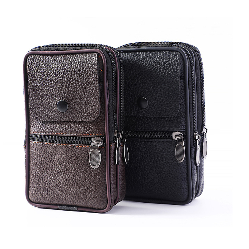 New vertical men 39 s pockets pu leather zipper flip phone bag wallet in Wallets from Luggage amp Bags