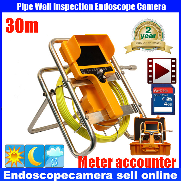 20M/30M Waterproof Sewer Pipe Inspection DVR Camera System Industrial Video Snake Endoscope Borescope  meter counter Camera boegli m 30
