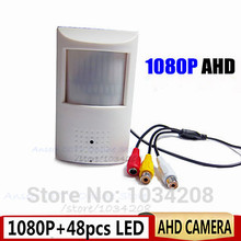 Video 1080P Mini AHD Camera Night Vision 48pcs IR 940Nm Pinhole 2.0Megapixel PIR Camera CCTV Pinhole AHD Mini Camera Ahd Audio