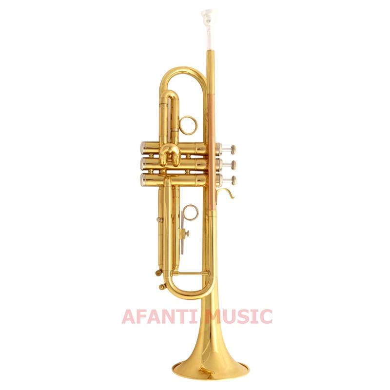 Afanti musique Bb ton/jaune laiton/or laque trompette (ATP-121)