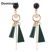 2017 New Arrival Dominated Bohemia Long All-match Simple Geometric Tassel Earrings  Female Temperament