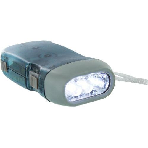 Promotion! New UK Blue Dynamo 3 White LEDs Flashlight Light Camping Outdoor Portable
