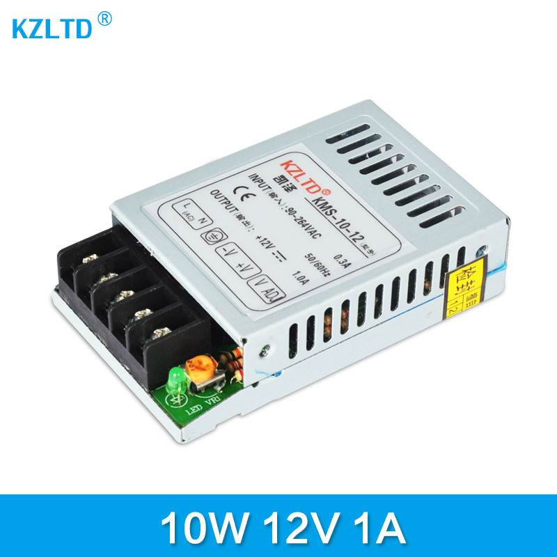 AC-DC Switching Power Supply 12V 10W 220V / 110V to 12V Alimentation 12V for 3D Printers LED Switch Mode Power Supply Mini Size meanwell 12v 75w ul certificated nes series switching power supply 85 264v ac to 12v dc