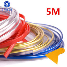 CARLOB 5M chrome-plated car modeling interior decoration flexible molding parts thread decoration strip auto parts stickers(China)