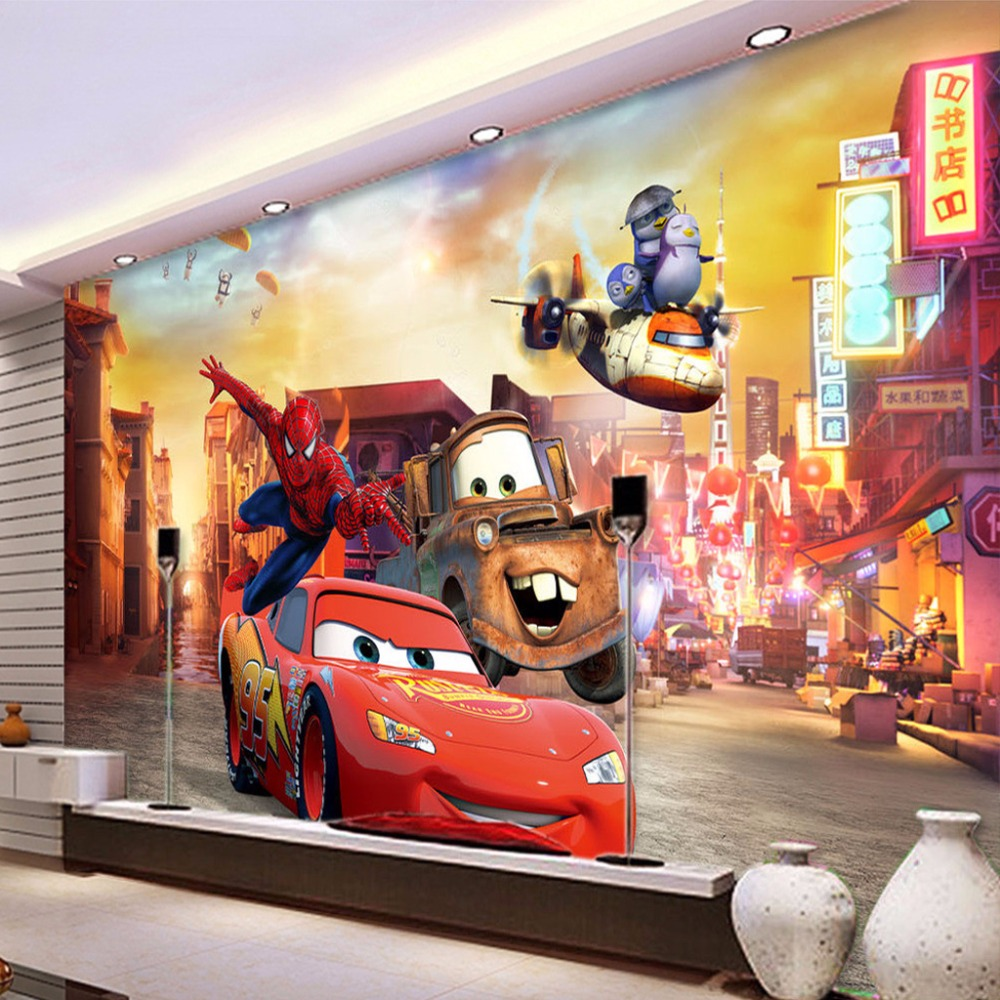 Custom mural wallpaper non woven city night view 3d for Airplane cockpit wall mural