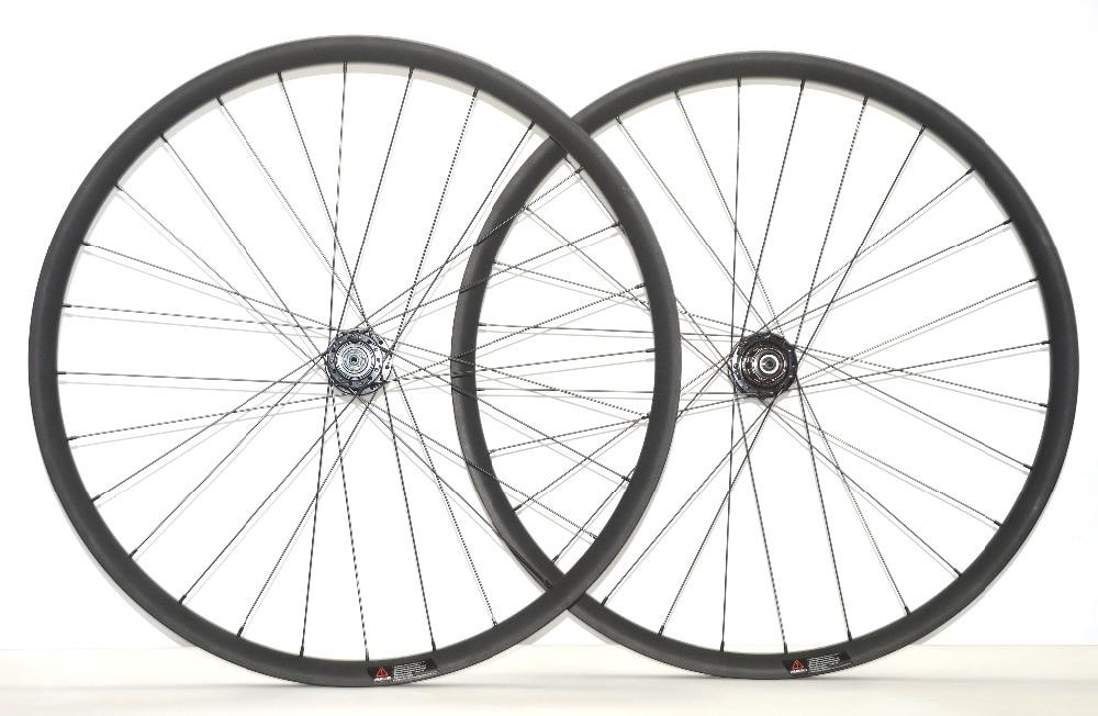цены 29ER MTB AM/DH clincher tubuless ready carbon wheelset 35mm width 25mm depth down hill mountain bike hoolless carbon wheels
