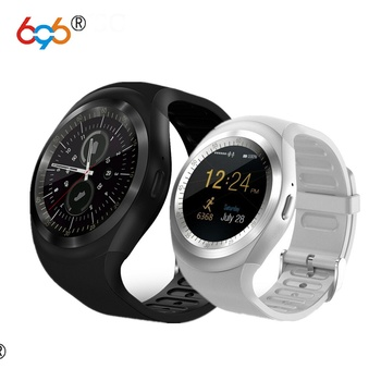696 Y1 Smart Watch Round Screen Fitness Activity Tracker Sleep Monitor Pedometer Calories Track Support SIM Card meanit m5