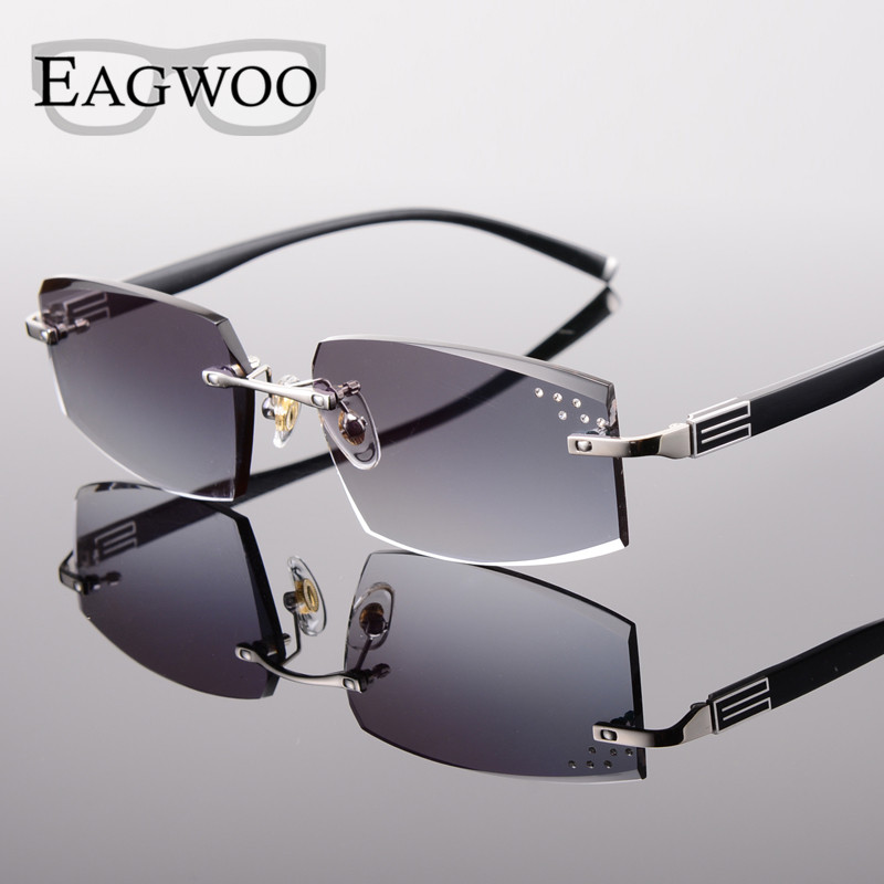 EAGWOO Rimless Sunglasses MR Sun Glasses Lenses Prescription Glasses Color Lenses to