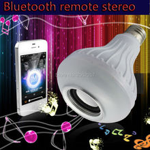 mini led remote control Bluetooth stereo 3W E27 RGBW home Party Stage Lighting Effect Christmas holiday Bulb Speaker