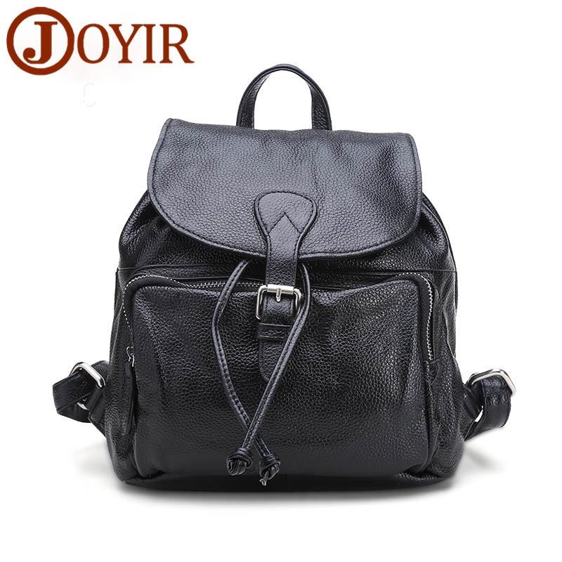 JOYIR Backpack Female Leather School Bags For Teenage Girls Travel Backpack Genuine Leather Backpack Female mochilas mujer 2018 цена в Москве и Питере