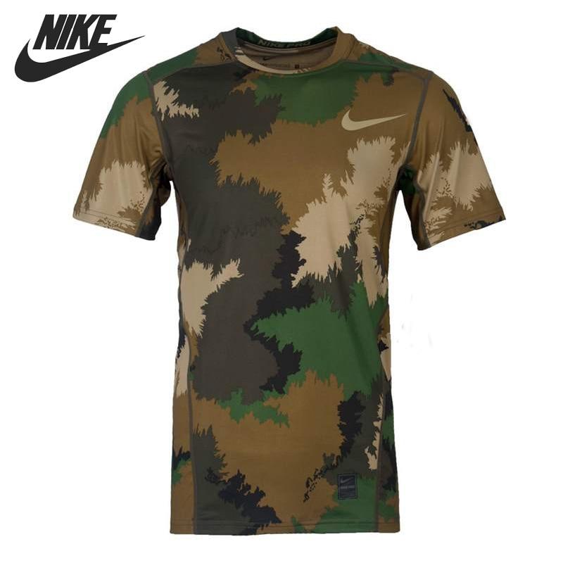 ФОТО Original New Arrival  NIKE  M NP HPRCL TOP SS FTTD AOP Men's T-shirts  short sleeve Sportswear