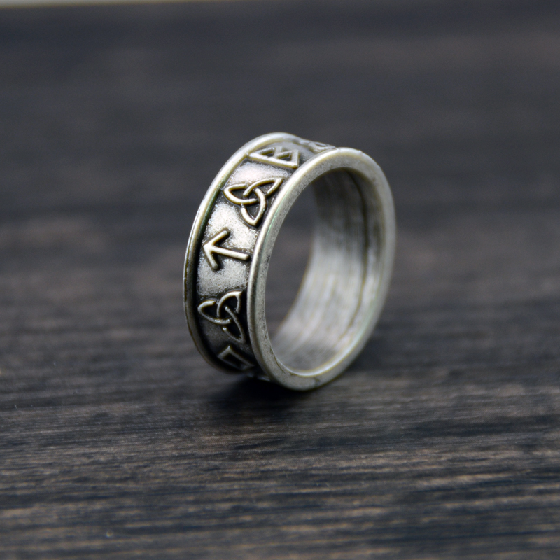 50pcs Letter Love Punk Rings Biker ring Celtics Viking Rings Rune Amulet Spirit Jewelry For Dropshipping