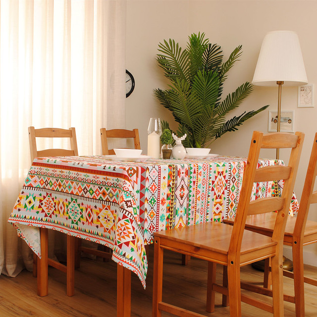 1Pcs New Arrival Indian Style Square Table Cloth Cotton+Linen Dinner Table  Cover 70*