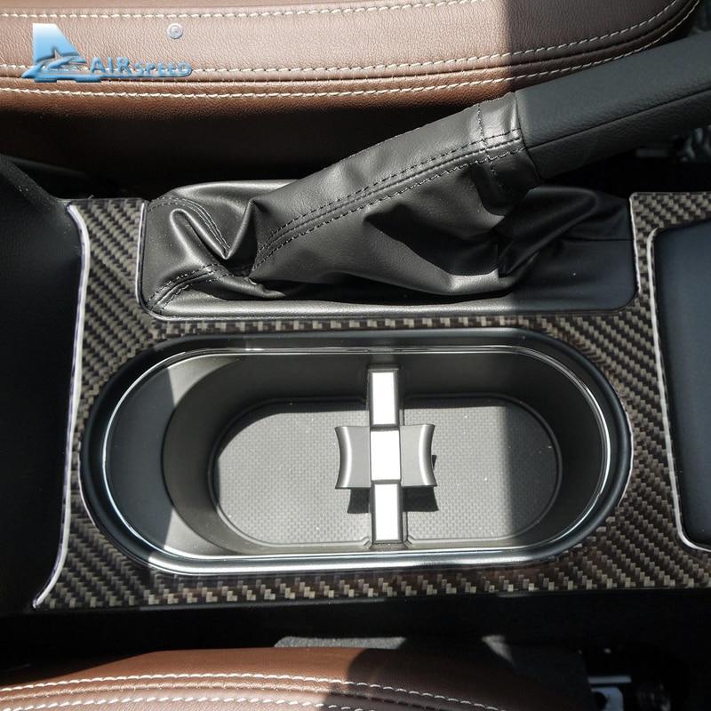 ΞAirspeed 1 piece carbon fiber Water Cup Holder Cover Trim Frame for ...