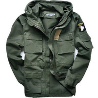 Military Jackets For Men Pilot Cotton Coat USA Army 101 Air Force Bomber Jacket Green Black