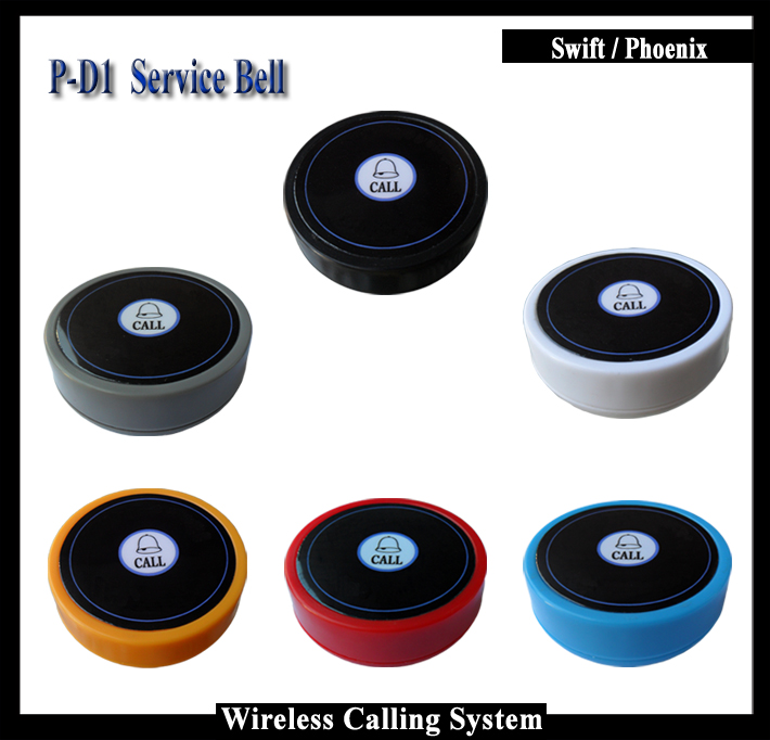 10pcs Waterproof Restaurant Call Button For Wireless Waiter Pagering System To Work With P-4-C display receiver 2 receivers 60 buzzers wireless restaurant buzzer caller table call calling button waiter pager system