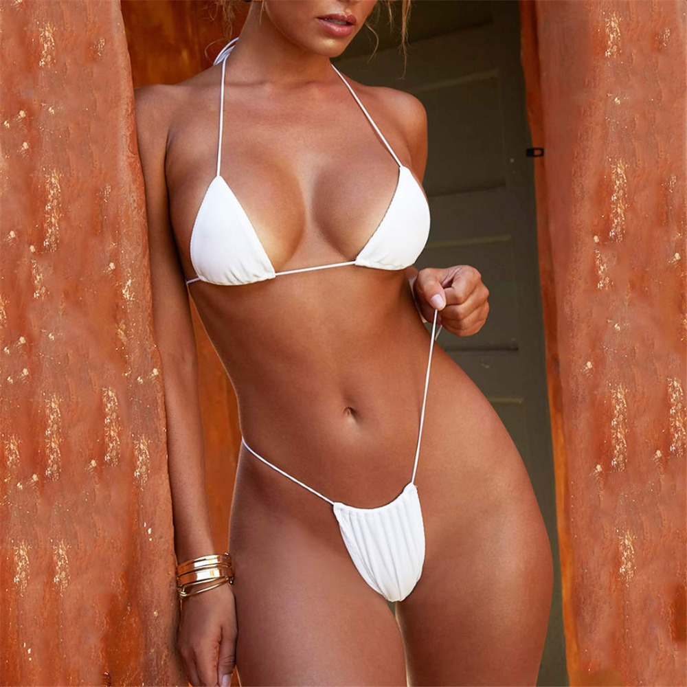 1891850c08 Detail Feedback Questions about Ribbed bikini set Tiny String ...