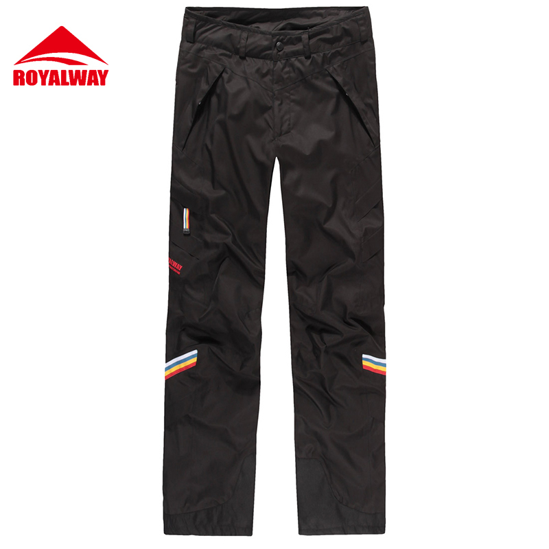 ROYALWAY Skiing Ski Pants Men Wear Resistant Waterproof Windproof Professional Snowboard Pants Super Quality 2017 New#RFJM4503G