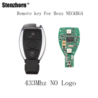 Stenzhorn 3pcs Lot 2Buttons 433Mhz Car Smart Remote Key DIY For Mercedes BENZ 2000 NEC BGA