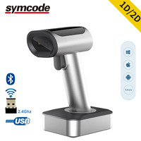 1D 2D Bluetooth Wireless USB Barcode Scanner,16M Storage Space,30 100 Meters Transfer Distance,1800mAH Recargable Bettery