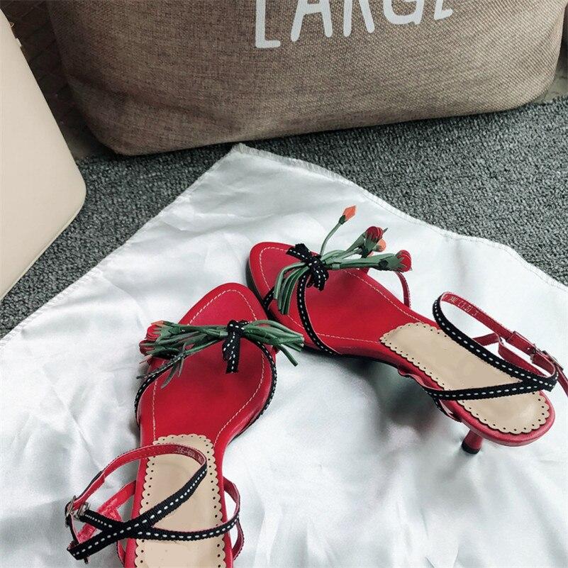 FEDONAS moda eleganckie kobiety sandały 2019 lato prawdziwej skóry kobiety pompy Pointed Toe wysokie obcasy Party buty ślubne kobieta w Średni obcas od Buty na  Grupa 2