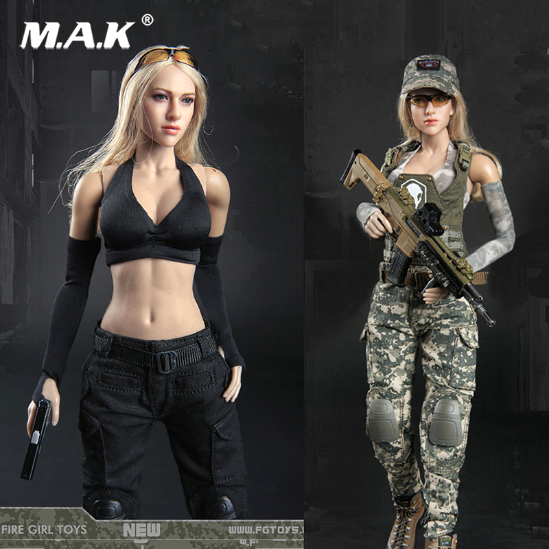 2 Colors 1/6 Female Tactical Female Shooter Dark Gunner Clothing Set Clothes Suits For 12'' PH HT TTL Body Figure