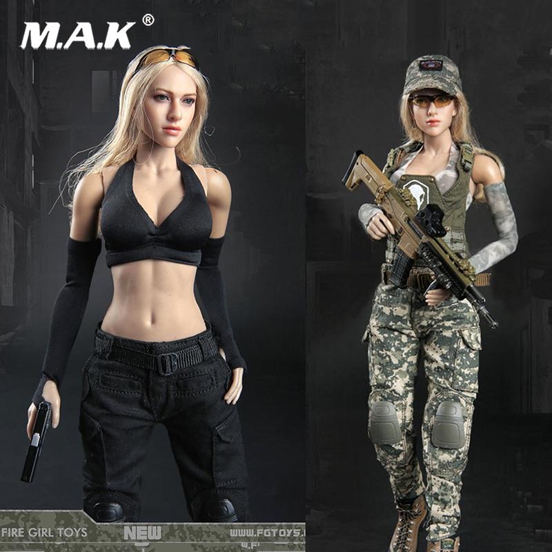 2 cores 1/6 feminino tático atirador feminino dark gunner roupas conjunto ternos para 12 ph ph ph ht ttl figura do corpo