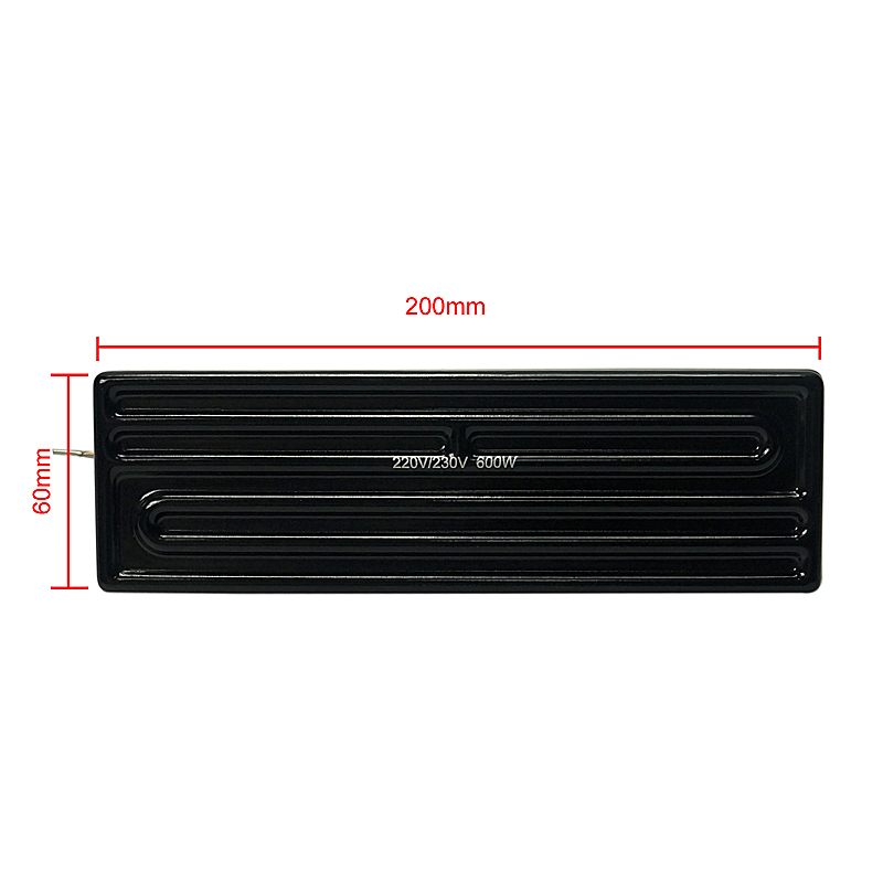 200x60mm 600W Top Infrared Ceramic Heating Plate For BGA Rework Station