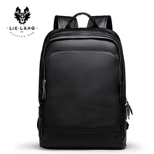 LIELANG mochila sencilla de cuero para hombre, morral masculino de cuero de alta calidad, a la moda, bolso de viaje para jóvenes
