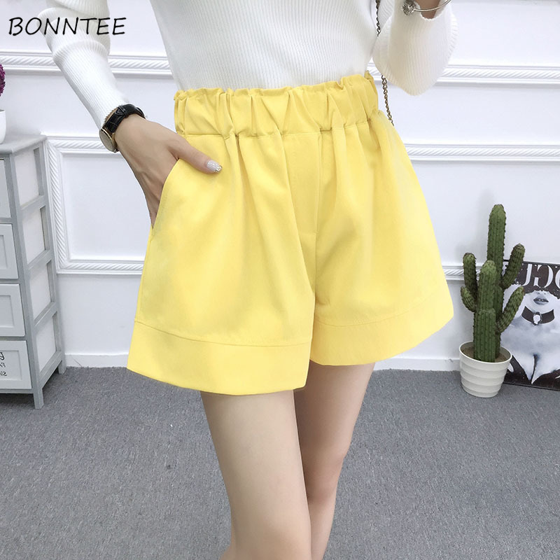 Shorts   Women Stylish Slim Female Trendy High Waist Womens Simple All-match Summer Daily Chic   Short   Solid Color Temperament Soft