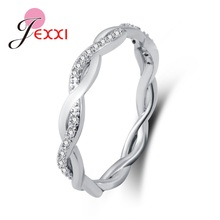 Jemmin New Arrival Elegant Pure 925 Sterling Sliver Special Beautiful Winding Shinning Rhinestone Fine Rings Good Girls/Women(China)